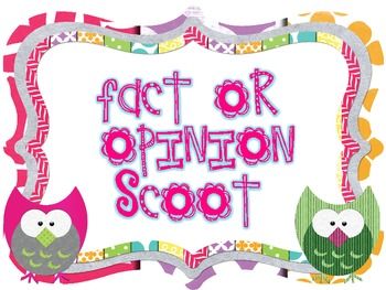 Fact or Opinion Scoot