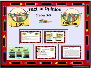Fact or Opinion Smartboard Lesson/Activity Grades 3-5