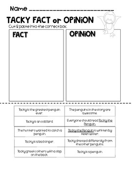 Fact or Opinion Sort