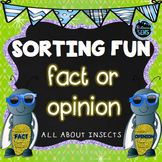Fact or Opinion Sort Bugs and Insects | Spring Literacy Center