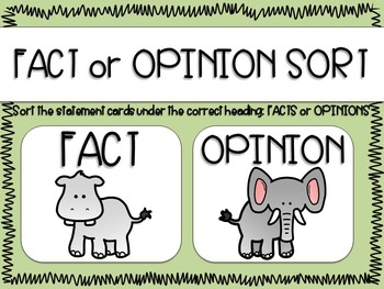 Fact or Opinion Sort and Opinion Writing mini unit What If You Had Animal Teeth