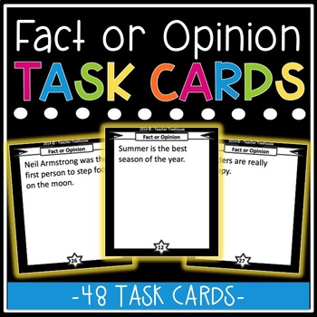 Fact or Opinion Task Card Bundle