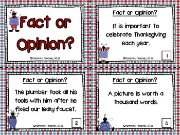 Fact or Opinion - Task Cards