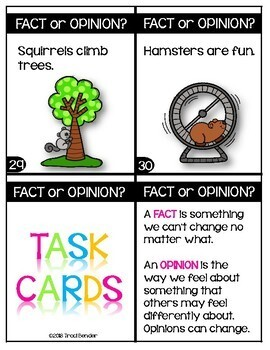 Fact or Opinion Task Cards
