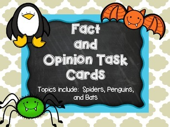 Fact or Opinion  Task Cards and Reading Passages