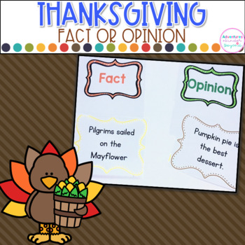 Fact or Opinion- Thanksgiving