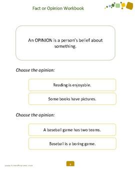 Fact or Opinion Workbook