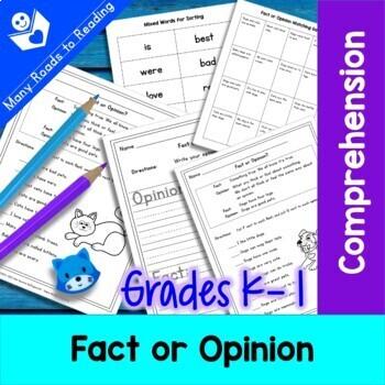 Fact or Opinion Worksheet: Grade 1