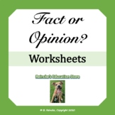 Fact or Opinion Worksheets