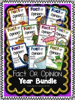 Fact or Opinion Year Long Bundle