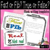 Fact or fib writing proforma