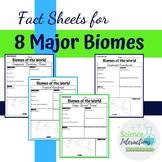 Fact sheets for 8 major biomes