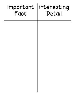 Fact vs Detail Sort