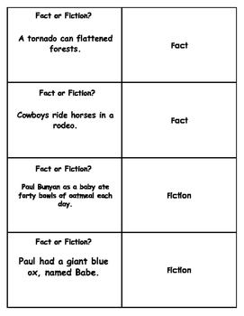 Fact vs. Fiction Flashcards
