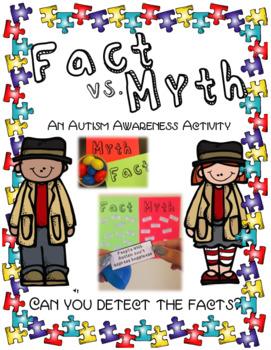 Fact vs Myth An Autism Awareness Activity