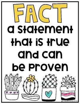 Fact vs Opinion