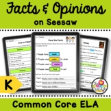 Fact vs Opinion Digital Activities on Seesaw for Kindergar