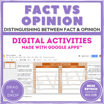 Fact vs Opinion - Google Classroom Activity - Distance Learning