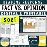 Fact vs. Opinion Informational Text Response Activity
