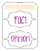 Fact vs Opinion Task Cards & Anchor Chart