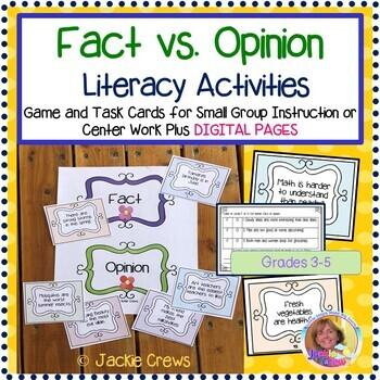 Fact Vs Opinion Teaching Resources Teachers Pay Teachers