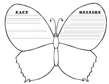 Fact/Opinion Butterfly