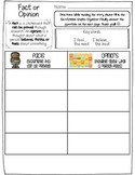 Fact/Opinion Chart with Constructed Response Questions