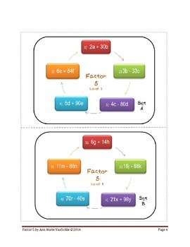 Factor 5: Distributive Property and Factoring Practice Level 3