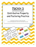 Factor 5: Distributive Property and Factoring Practice Level 4