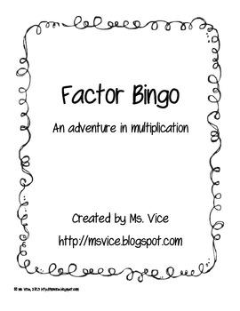 Factor Bingo