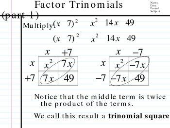 Factor Binomials, Trinomials, Polynomials