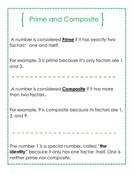 Factor Booklet (Interactive) - Common Core