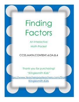Factor Booklet (Interactive) - Common Core