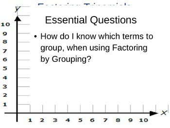 Factor By Grouping Slideshow