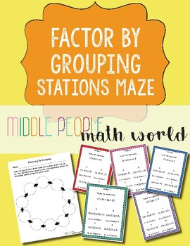 Factor By Grouping Stations Maze