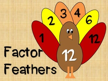 Factor Feathers Turkeys - A Fall Craftivity For Factors