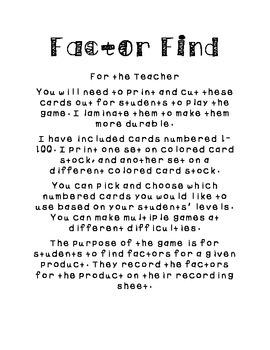 Factor Find
