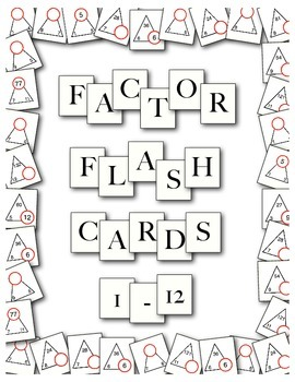 Factor Flash Cards - Factor Triangles - Fact Family Cards