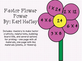 Factor Flower Power {A Multiplication Craftivity}