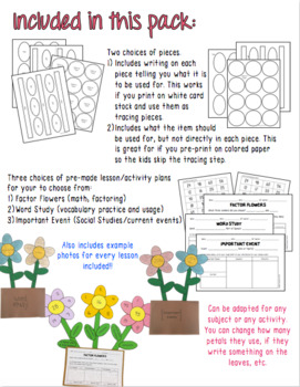 Factor Flowers: Spring Factoring Craftivity