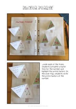 Factor Forest, Interactive Math Journal, Prime & Composite Australian Curriculum