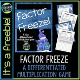 Factor Freeze:  A Differentiated Multiplication Game