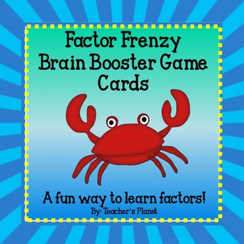 Factor Games - Factor Frenzy Brain Booster Game Cards/ Tas