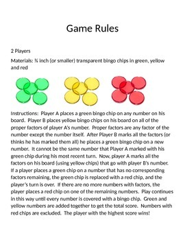 Factor Frenzy Game for Ages 8-12