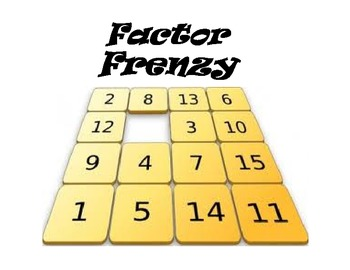 Factor Frenzy Multiplication Differentiated Game