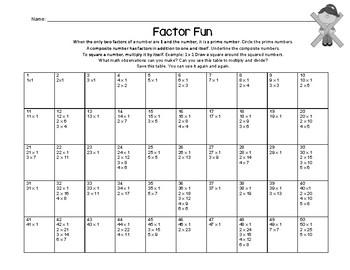 Multiplication Factor Fun
