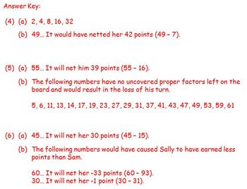 Factor Game (1-64)