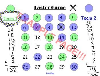 Factor Game - Math Logic Game