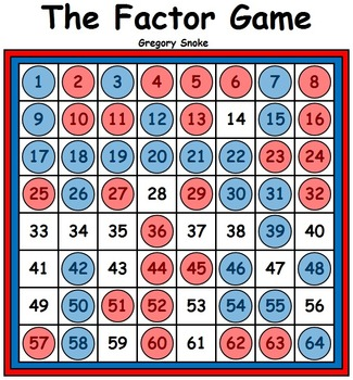 Factor Game Boards