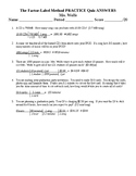 Factor-Label Method (Dimensional Analysis) Quiz for Chemistry